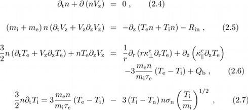 braginskii equations
